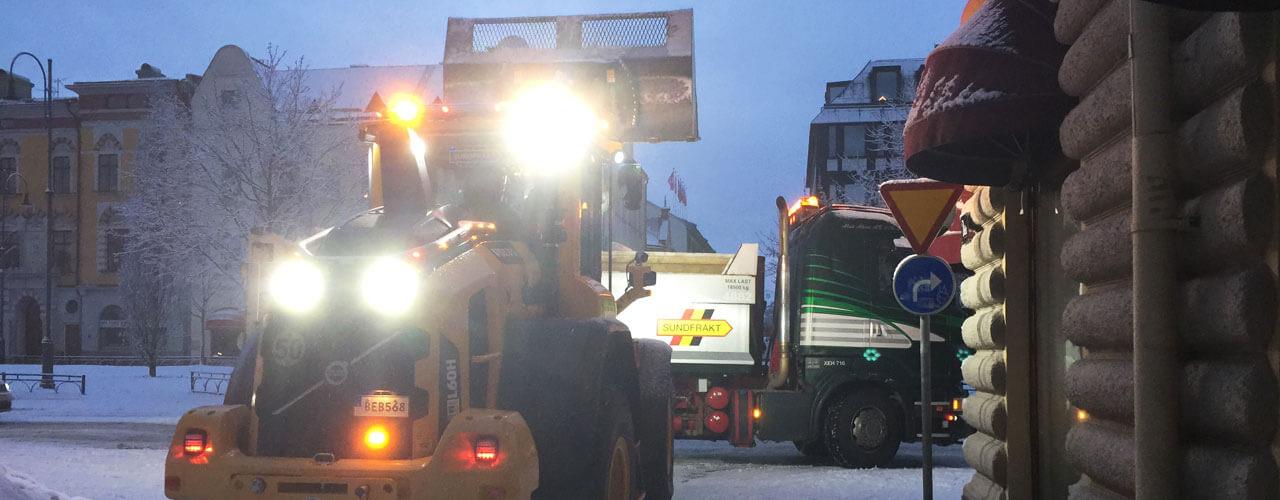 Snöröjningen i Sundsvall